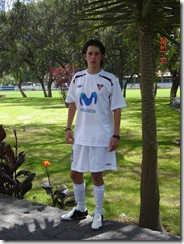 Jose Sebastian at LDU Soccer Team Club - 16 years - May.2006